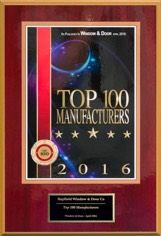 2015 Window and & Magazine's Top 100 Manufacturers Award